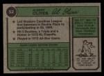 1974 Topps #52  Al Oliver  Back Thumbnail