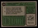 1974 Topps #124  Bob Coluccio  Back Thumbnail