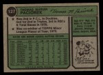 1974 Topps #127  Tom Paciorek  Back Thumbnail