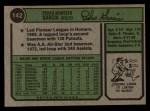 1974 Topps #142  Pedro Garcia  Back Thumbnail