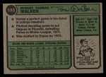 1974 Topps #193  Tom Walker  Back Thumbnail