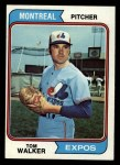1974 Topps #193  Tom Walker  Front Thumbnail
