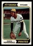 1974 Topps #222  Ramon Hernandez  Front Thumbnail