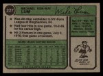 1974 Topps #227  Mike Lum  Back Thumbnail