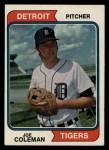1974 Topps #240  Joe Coleman  Front Thumbnail