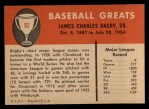 1961 Fleer #92  Jim Bagby  Back Thumbnail