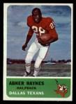 1962 Fleer #25  Abner Haynes  Front Thumbnail