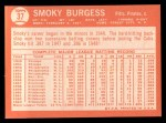 1964 Topps #37  Smoky Burgess  Back Thumbnail