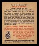 1949 Bowman #53  Jack Kramer  Back Thumbnail