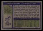 1972 Topps #157  Emmitt Thomas  Back Thumbnail
