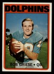 1972 Topps #80  Bob Griese  Front Thumbnail