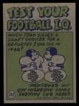 1972 Topps #252   -  George Farmer Pro Action Back Thumbnail