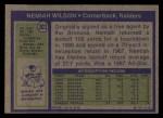 1972 Topps #303  Nemiah Wilson  Back Thumbnail