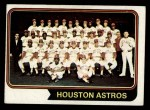 1974 Topps #154   Astros Team Front Thumbnail