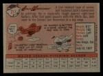 1958 Topps #217  Jack Harshman  Back Thumbnail