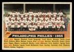 1956 Topps #72 D55  Phillies Team Front Thumbnail