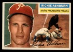 1956 Topps #120 GRY Richie Ashburn  Front Thumbnail