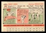 1956 Topps #15  Ernie Banks  Back Thumbnail