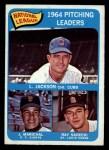 1965 O-Pee-Chee #10   -  Larry Jackson / Juan Marichal / Ray Sadecki NL Pitching Leaders Front Thumbnail