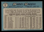 1965 O-Pee-Chee #67  Harvey Haddix  Back Thumbnail