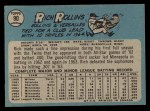1965 O-Pee-Chee #90  Rich Rollins  Back Thumbnail