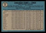 1965 O-Pee-Chee #91   Cubs Team Back Thumbnail