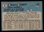 1965 O-Pee-Chee #96  Sonny Siebert  Back Thumbnail