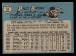 1965 O-Pee-Chee #51  Bill Bryan  Back Thumbnail