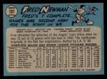 1965 O-Pee-Chee #101  Fred Newman  Back Thumbnail