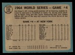 1965 O-Pee-Chee #135   -  Ken Boyer / Elston Howard 1964 World Series - Game #4 - Boyer's Grand Slam Back Thumbnail