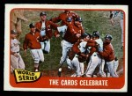 1965 O-Pee-Chee #139   1964 World Series - Summary - The Cards Celebrate Front Thumbnail