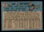1965 O-Pee-Chee #169  Dave Vineyard  Back Thumbnail