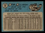 1965 O-Pee-Chee #180  Bob Allison  Back Thumbnail