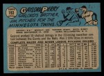 1965 O-Pee-Chee #193  Gaylord Perry  Back Thumbnail