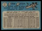 1965 O-Pee-Chee #211  Steve Ridzik  Back Thumbnail