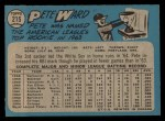 1965 O-Pee-Chee #215  Pete Ward  Back Thumbnail