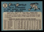 1965 O-Pee-Chee #29  Felix Mantilla  Back Thumbnail