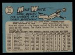 1965 O-Pee-Chee #31  Mike White  Back Thumbnail