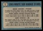 1965 O-Pee-Chee #41   -  Bruce Howard / Marv Staehle White Sox Rookies Back Thumbnail