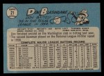 1965 O-Pee-Chee #21  Don Blasingame  Back Thumbnail