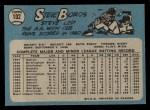 1965 O-Pee-Chee #102  Steve Boros  Back Thumbnail