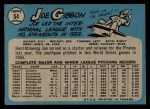 1965 O-Pee-Chee #54  Joe Gibbon  Back Thumbnail