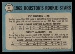 1965 O-Pee-Chee #16   -  Joe Morgan / Sonny Jackson Houston Rookies Back Thumbnail
