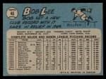 1965 O-Pee-Chee #46  Bob Lee  Back Thumbnail