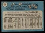 1965 O-Pee-Chee #71  John O'Donoghue  Back Thumbnail