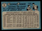 1965 O-Pee-Chee #83  George Thomas  Back Thumbnail