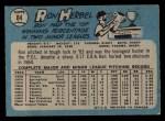 1965 O-Pee-Chee #84  Ron Herbel  Back Thumbnail