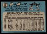 1965 O-Pee-Chee #98  Bob Miller  Back Thumbnail