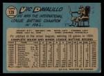 1965 O-Pee-Chee #128  Vic Davalillo  Back Thumbnail
