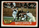 1965 O-Pee-Chee #134   -  Mickey Mantle / Barney Schultz / Tim McCarver 1964 World Series - Game #3 - Mantle's Clutch HR Front Thumbnail